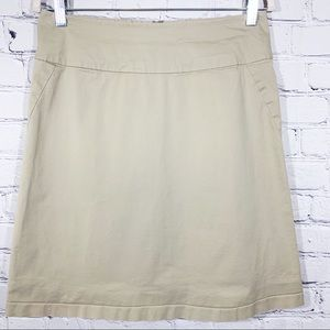BANANA REPUBLIC Khaki A-Line Skirt Size 8